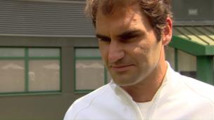 Video «Roger Federer und Stan Wawrinka vor dem Wimbledon-Start» abspielen