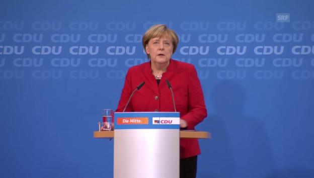 Video «Merkel kündigt Kandidatur an» abspielen