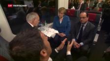 Video «Gotthard-Tunnel: Staatsgipfel im Zug» abspielen