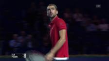 Link öffnet eine Lightbox. Video Lockere Favoritensiege in Basel für Nishikori & Cilic abspielen