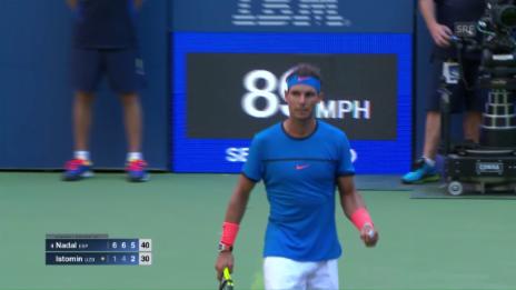 Link öffnet eine Lightbox. Video Nadal bekundet gegen Istomin keine Probleme abspielen