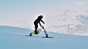 Link öffnet eine Lightbox. Video Weltrekordversuch: Highspeed mit dem Snowbike abspielen.