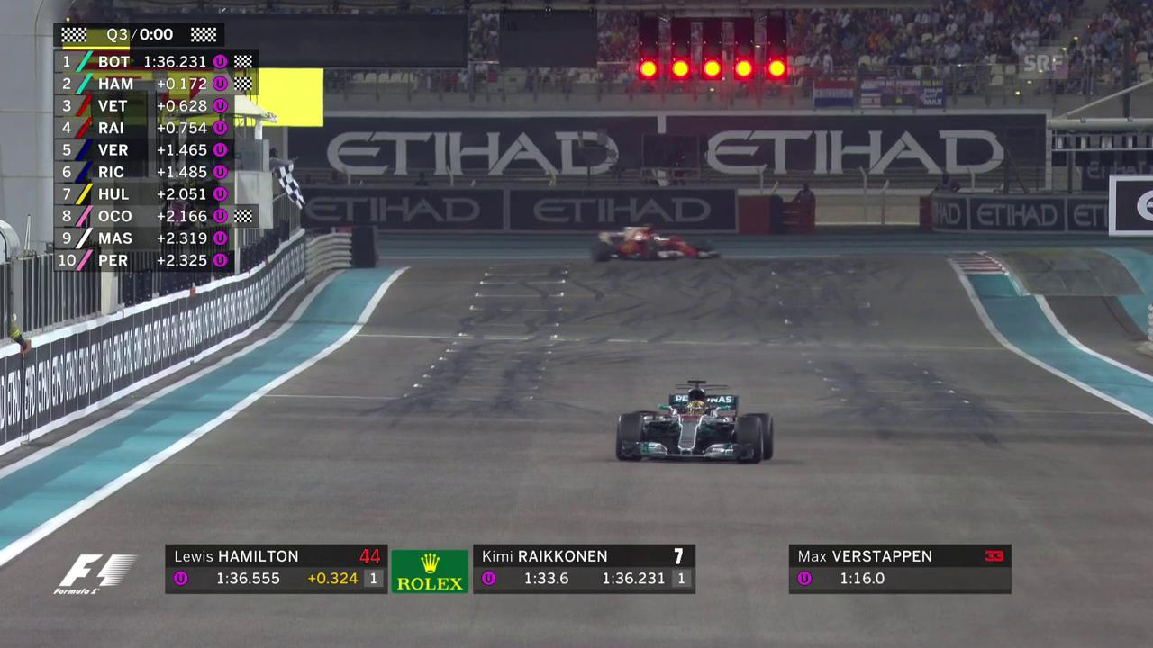 Bottas beschert Mercedes die 50. Frontreihe