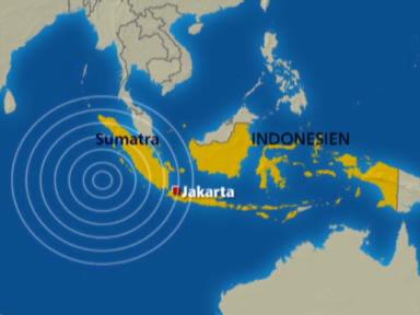 Starkes Seebeben in Sumatra