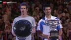 Video «Tennis: Australian Open, Vorschau Final Djokovic - Murray» abspielen