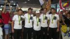 Video «Olympioniken zurück aus Rio» abspielen