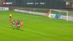 Video «Schweizer Cup: Lugano - Thun» abspielen