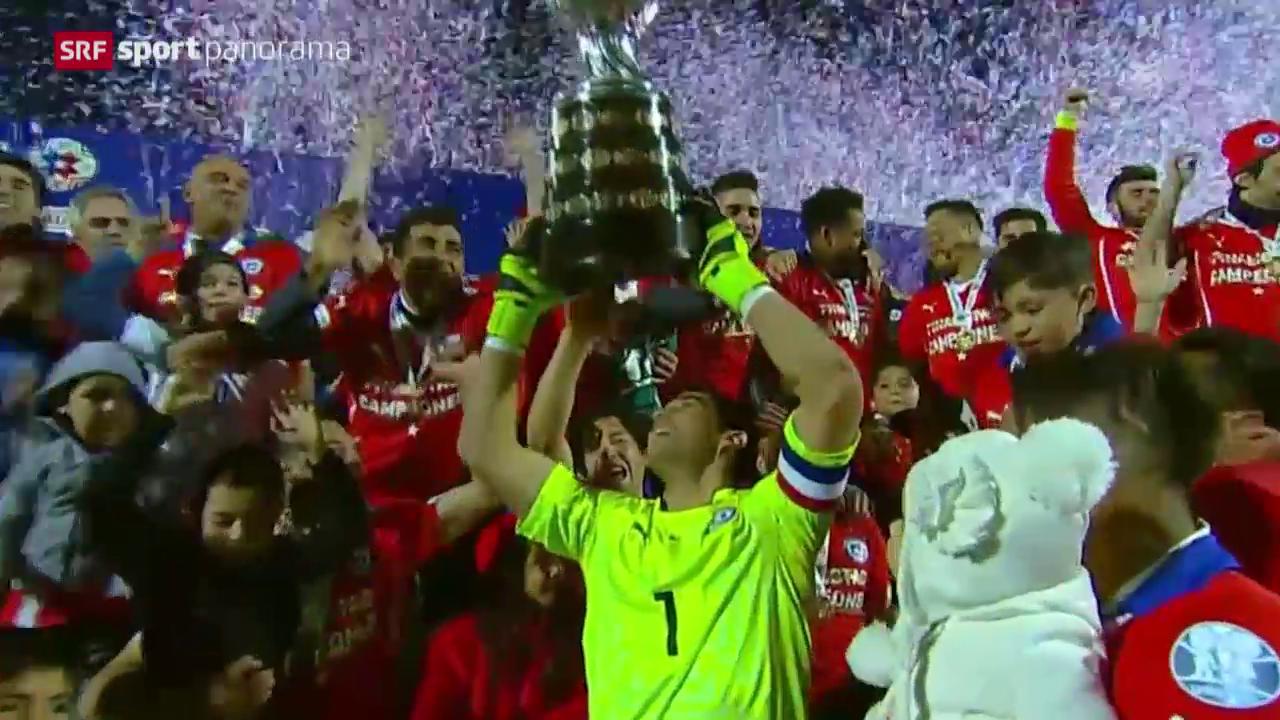 Fussball: Copa America, Chile schlägt im Final Argentinien