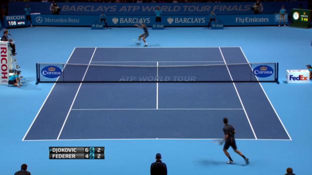 Video «Entscheidende Punkte Federer - Djokovic» abspielen