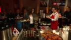 Video «Koreanisches Essen und rätoromanische Grüsse an Dario Cologna» abspielen