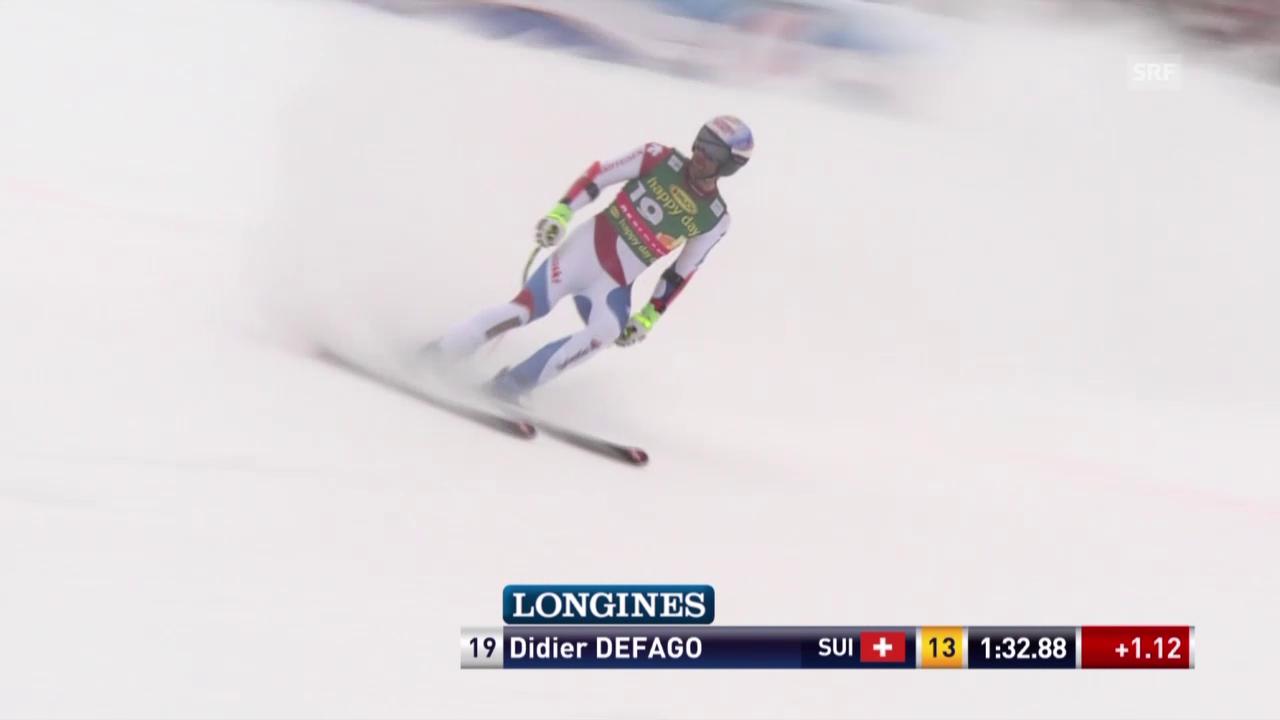 Ski Alpin, Männer SuperG, Saalbach, Fahrt von Défago