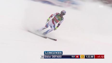 Video «Ski Alpin, Männer SuperG, Saalbach, Fahrt von Défago» abspielen