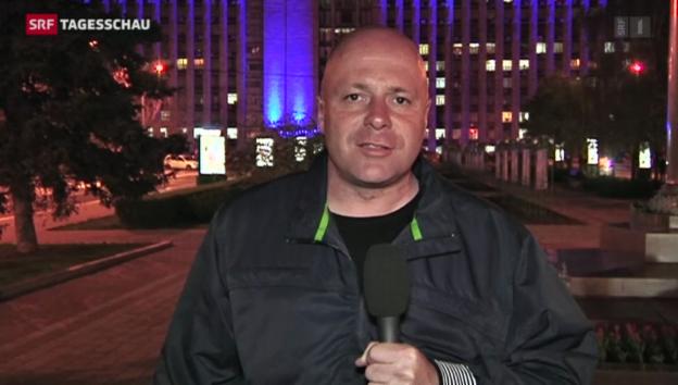 Video «SRF-Korrespondent Christoph Wanner zu aktuellen Lage» abspielen