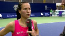 Video «Golubic über Gegnerin Sasnowitsch» abspielen