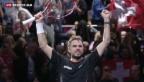 Video «Wawrinka wahrt Halbfinal-Chance in London» abspielen