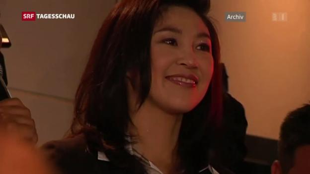 Video «Ex-Regierungschefin Yingluck aus Thailand geflohen» abspielen