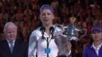 Video «Pokalübergabe und Dankesrede von Asarenka.» abspielen