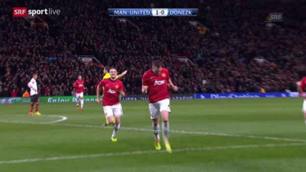 Video «Fussball: Champions League, Manchester United - Schachtar Donezk («sportlive», 10.12.2013)» abspielen