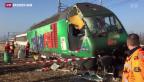 Video «Ein Schwerverletzter bei Zugunglück in Rafz» abspielen