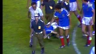 Video «Halbfinal Frankreich - Deutschland 1982: Erstes Penaltyschiessen» abspielen