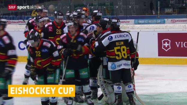 Video «Eishockey: Schweizer Cup, Bern - Zug» abspielen