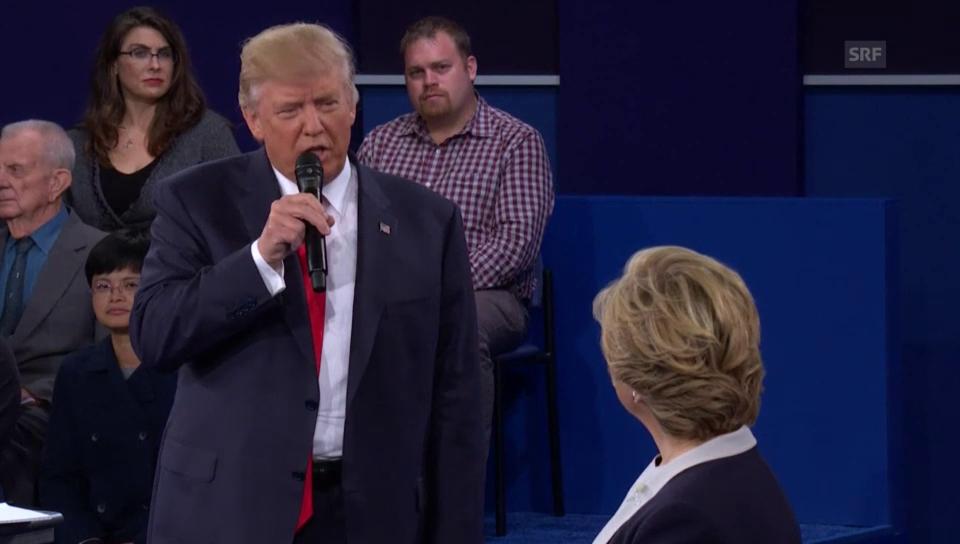 Trumps Vorwurf gelöschter E-Mails von Clinton (Engl.)