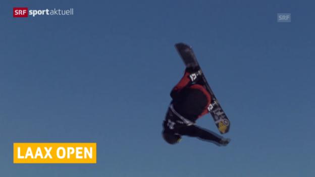 Video «Mark McMorris gewinnt beim Laax Open den Slopestyle-Wettbewerb» abspielen