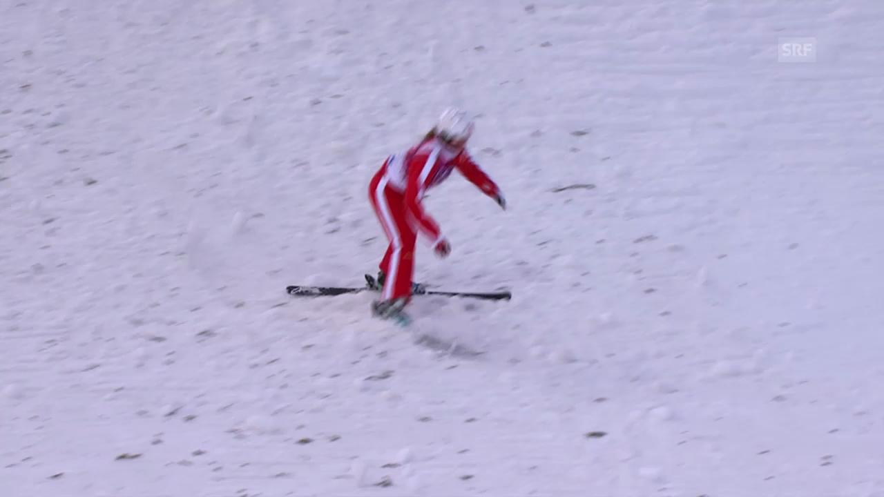 Ski Freestyle: Springen Frauen, die Sprünge von Tanja Schärer (sotschi direkt, 14.02.2014)