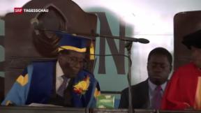 Video «Erster öffentlicher Auftritt Mugabe » abspielen