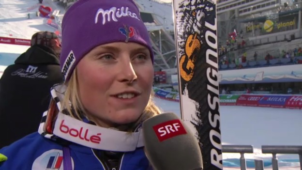 Video «Interview Tessa Worley «schladming aktuell»» abspielen