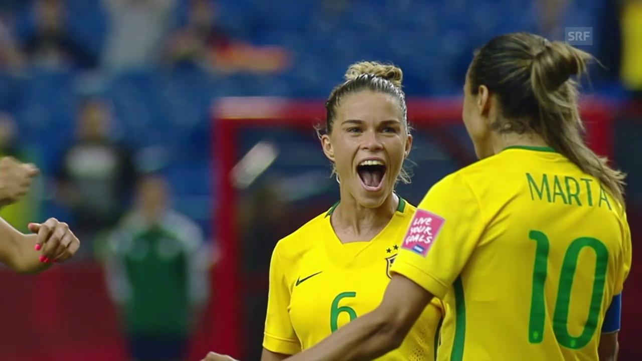 Fussball: Frauen-WM 2015 in Kanda, Gruppe E, 1. Spiel, Brasilien - Südkorea