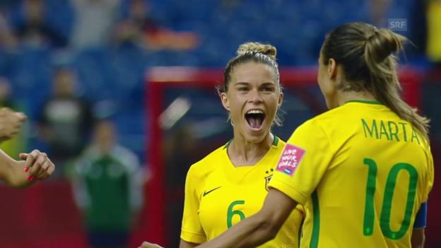 Video «Fussball: Frauen-WM 2015 in Kanda, Gruppe E, 1. Spiel, Brasilien - Südkorea» abspielen