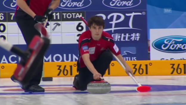 Video «Curling: Entscheidung bei Schweiz - Japan (Quelle: EVS, unkommentiert)» abspielen