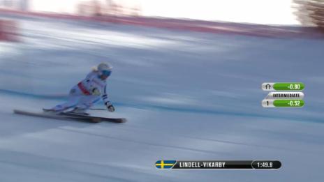 Video «Ski-WM Vail/Beaver Creek, RS Frauen, 2. Lauf Lindell-Vikarby» abspielen