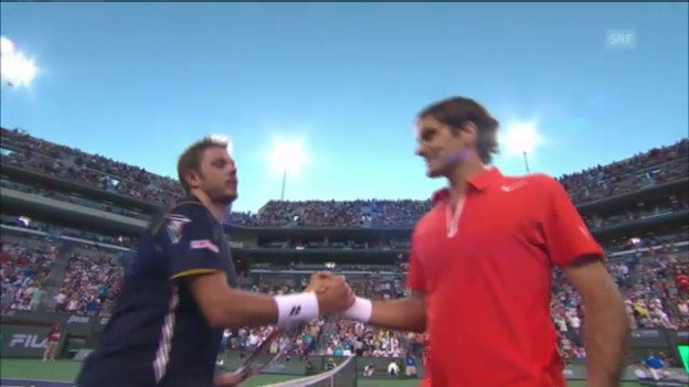 Video «Tennis: Federer - Wawrinka in Indian Wells» abspielen