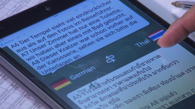 Video «Übersetzungsprogramme im Test: Schlechte Noten für viele Apps» abspielen