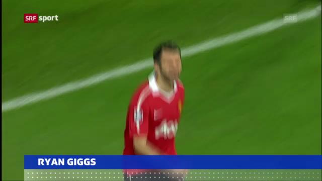 Fussball: Ryan Giggs verlängert bei Manunited («sportaktuell»)
