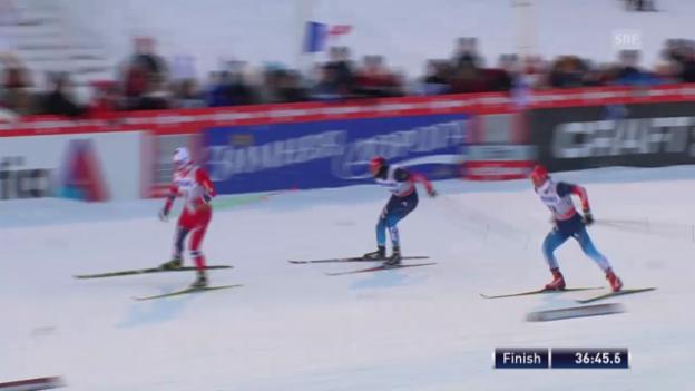 Video «Langlauf: Schlussphase 15 km Skating Männer («sportlive»)» abspielen