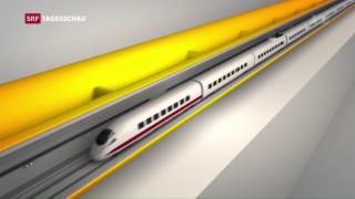 Video «Gotthard-Tunnel: Bauwerk der Superlative für Personen und Güter» abspielen