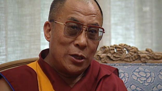 Video «Dalai Lama auf Besuch in Bern (aus Tagesschau vom 19.8.1991)» abspielen