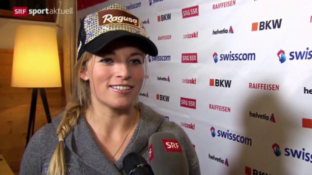 Video «Lara Gut vor dem Rennwochenende in Lenzerheide» abspielen