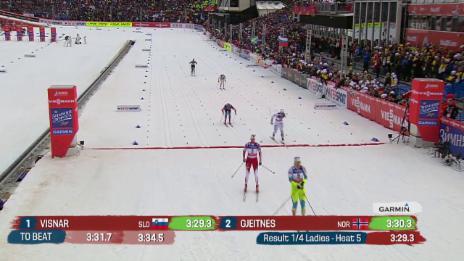 Video «Langlauf: Der Sprint-Viertelfinal von Van der Graaff» abspielen