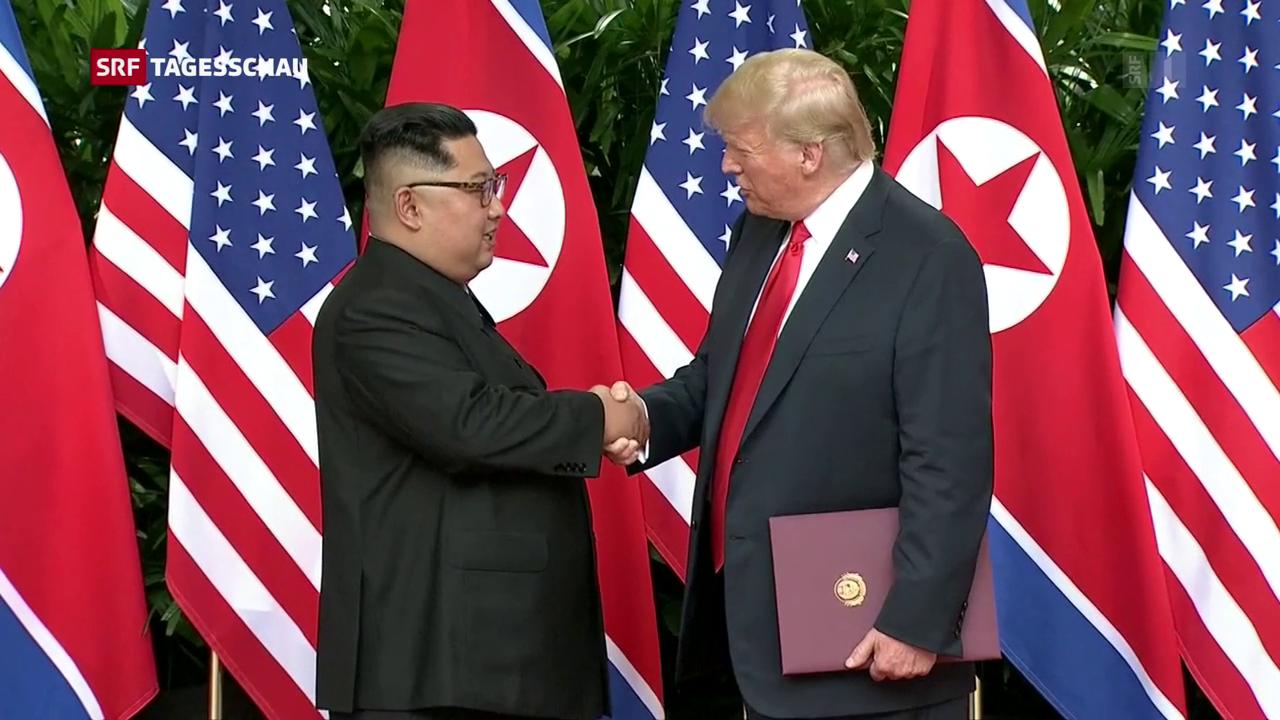 Nordkorea: Donald Trump & Kim Jong Un unterzeichnen Vereinbarung