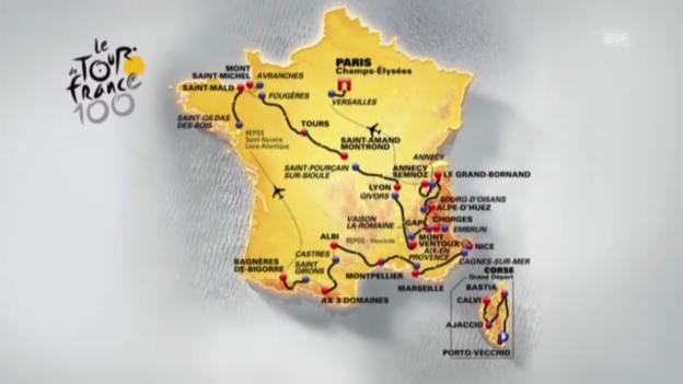Video «So läuft die 100. Tour de France» abspielen