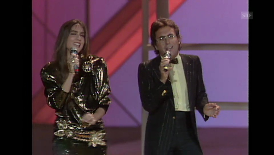 «Magic magic»: Al Bano und Romina Power am ESC-Finale 1985