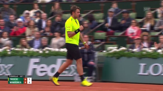 Video «Wawrinka-Troicki, die Live-Highlights» abspielen