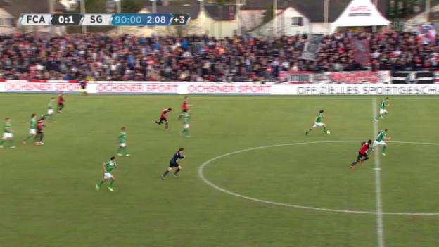 Video «Fussball:SL, Aarau - St. Gallen, Tor von Rodriguez zum 2:0» abspielen