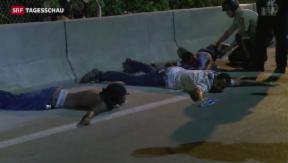 Video «Ferguson kommt nicht zur Ruhe» abspielen