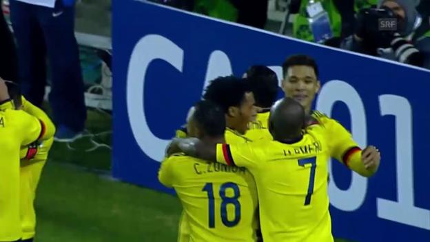 Video «Fussball: Copa America, Brasilien-Kolumbien» abspielen
