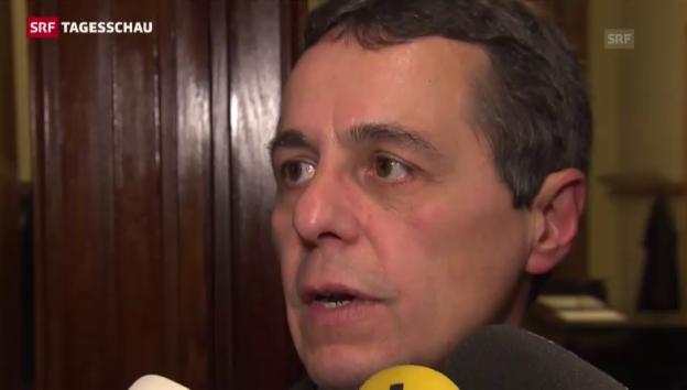 Video «Statement Ignazio Cassis, Fraktionschef FDP» abspielen
